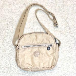 Kipling Nylon Body Bag Cream/Beige Color